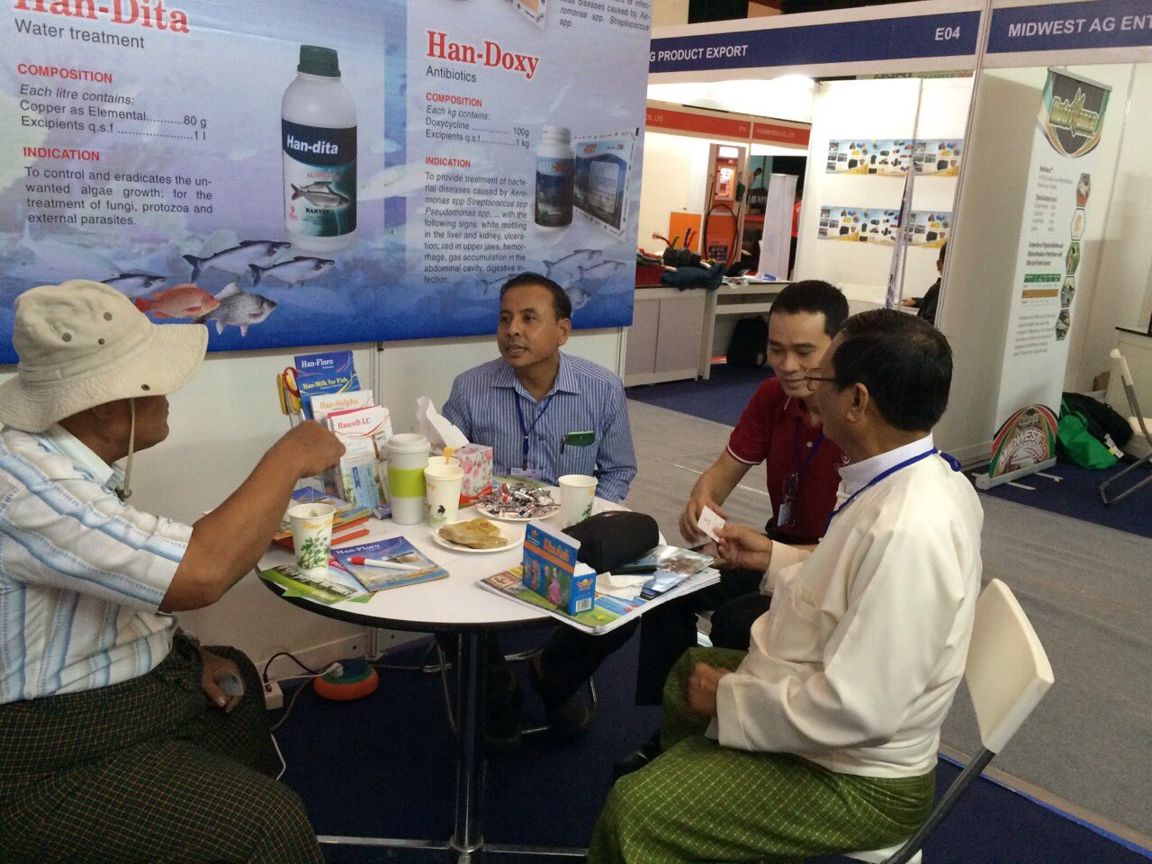 HANVET AT AQUA FISHERY MYANMAR EXHIBITION 2015