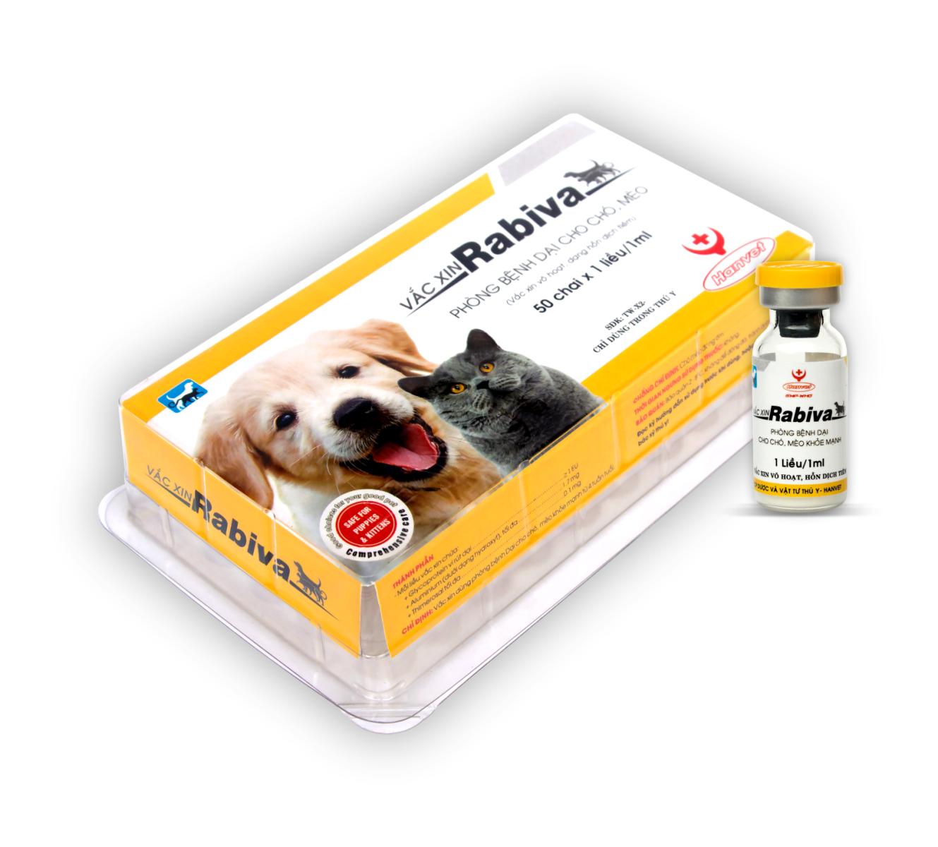 Vắc xin Dại chó mèo Rabiva
